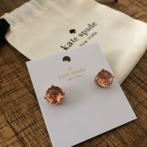 Beautiful Kate Spade peach gemstone earrings